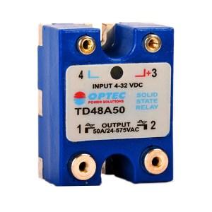 Relé De Estado Sólido 50A Dc Ac Optec TD48A50