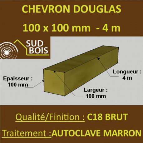 Chevron 100x100 Douglas Autoclave Marron Sec Brut Qualite Charpente 4m Sud Bois Terrasse Bois Direct Scierie