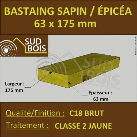 Bastaing 63x175 Sapin Epicea Traite Classe 2 Jaune A La Palette Sud Bois Terrasse Bois Direct Scierie