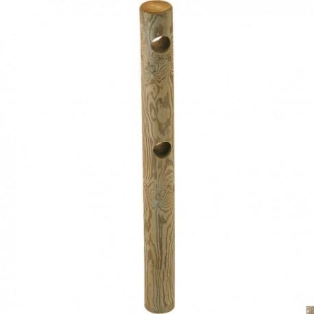 poteau bois perce 1 trou pour cloture 1 lisse o 140mm 1 5m pin classe 4 sud bois terrasse bois direct scierie