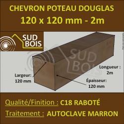Chevron 100x100 Douglas Naturel Sec Brut Qualite Charpente 3m Sud Bois Terrasse Bois Direct Scierie