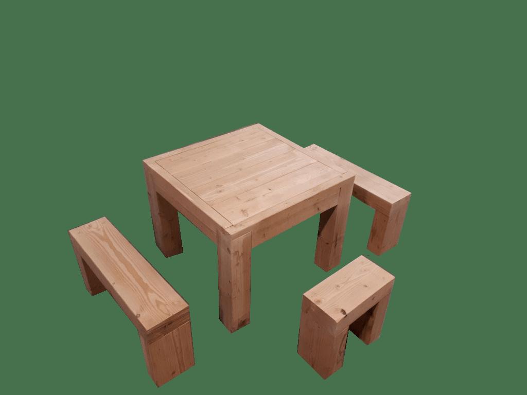 kit salon de jardin en bois douglas naturel table haute banc livraison gratuite fr sud bois terrasse bois direct scierie