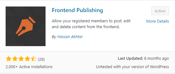 Frontend Publishing