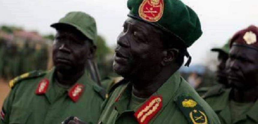 South Sudan former SPLA-IO deputy chief of staff for administration and finance and the new SSPDF deputy chief of defense forces for training General James Koang Chuol Ranley (Photo via Getty Images)