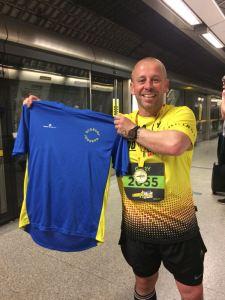 Gary Crowley after the London Landmarks Half Marathon