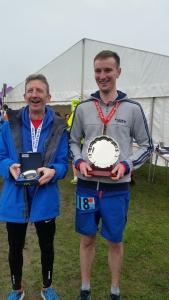 Todd Lewis and Kallum Breward - First in their age group - Bungay Marathon 2018