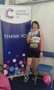 Ann Alexander at the 2018 Brighton Marathon