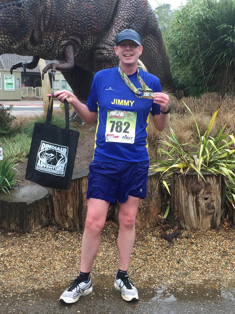 Jimmy Secker after the Ringland Half Marathon