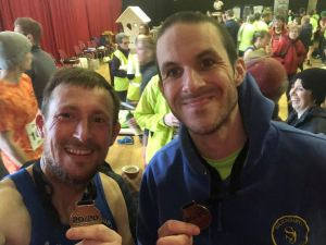 Darren Barfield and Kieran Hayles after running the 20/20 Fission 20-mile race