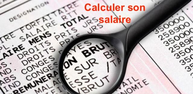 Calcul salaire