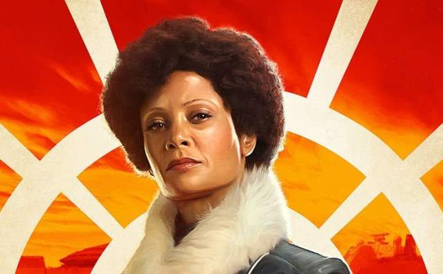 Cropped version of poster featuring Thandie Newton as Val from Solo: A Star Wars Story