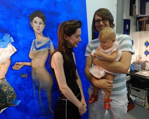 Visiting studio of K. R. Kitsch during Bushwick Open Studios