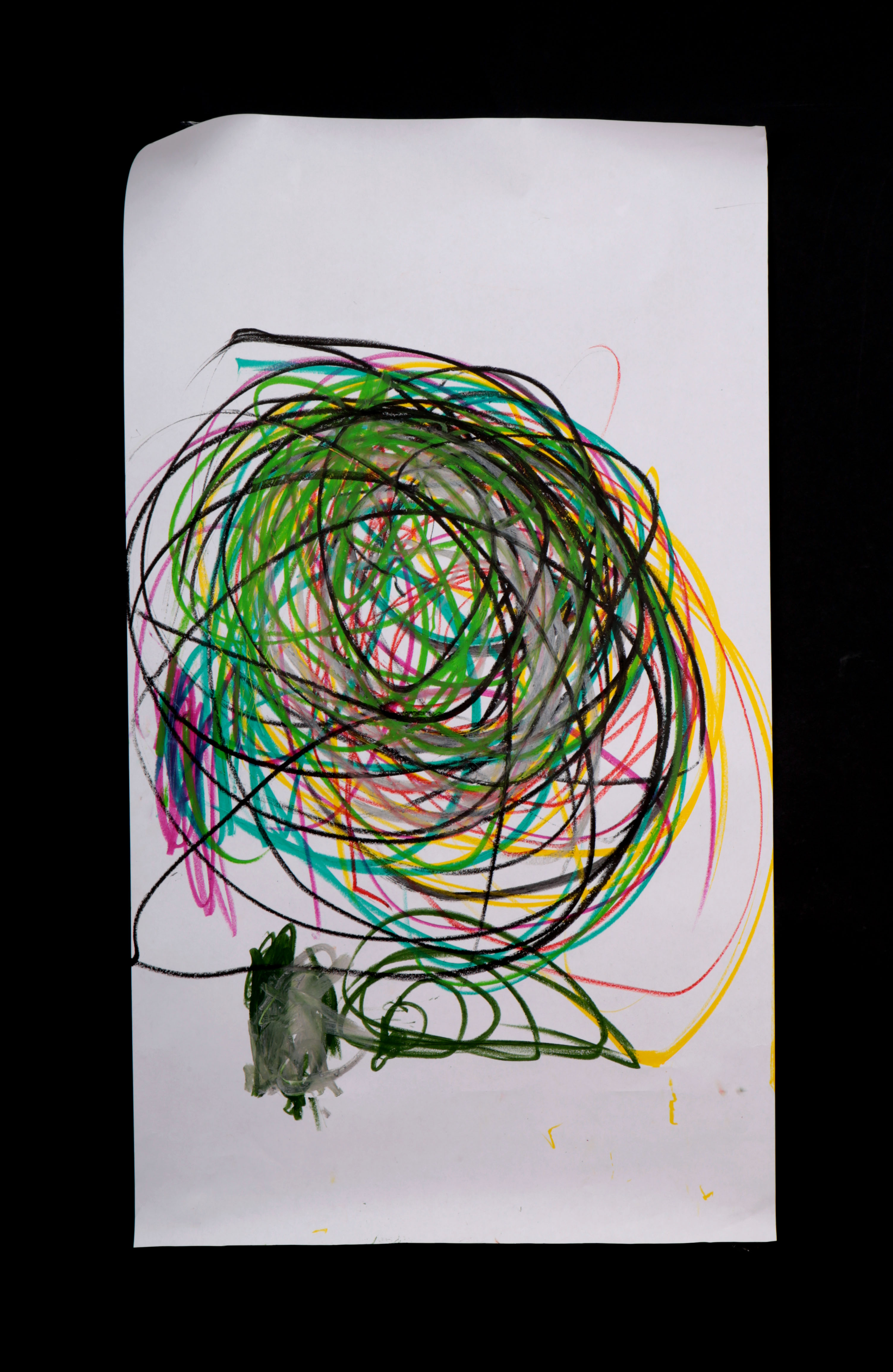 Art by Anastasia. Untitled #77. Gel sticks on paper.