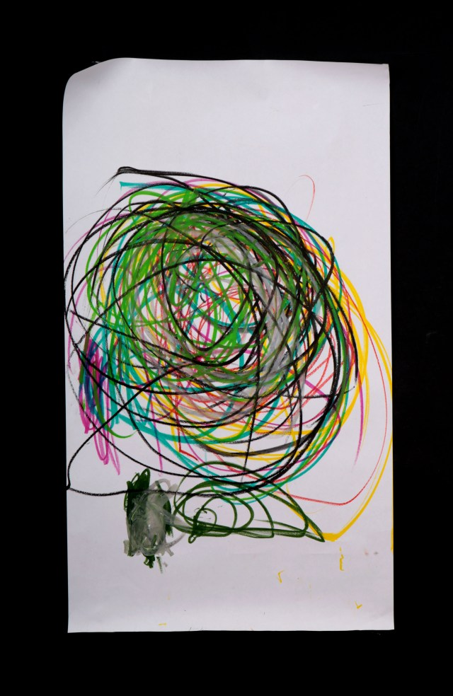 Art by Anastasia. Untitled #77. Gel sticks on paper.