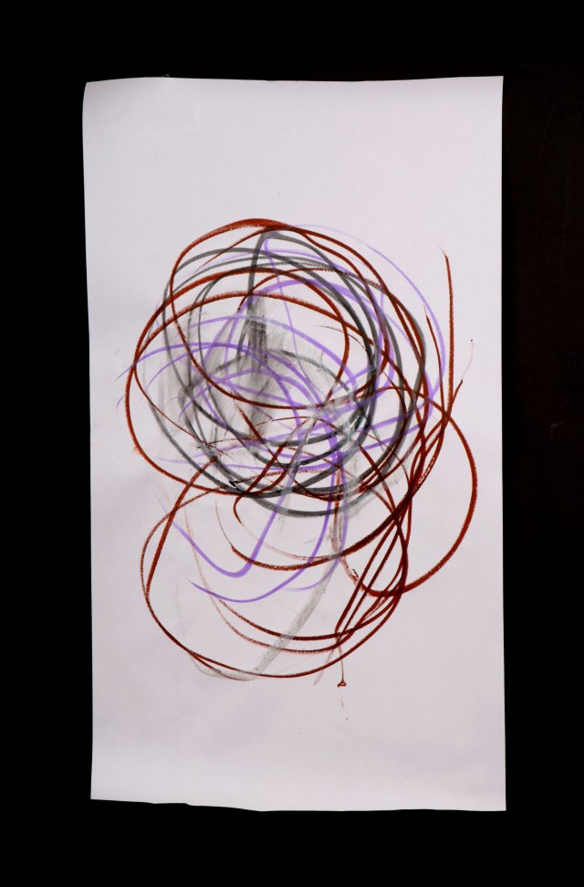 Art by Anastasia. Untitled #79. Gel sticks on paper.