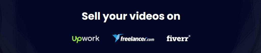 sell your videos on upwork freelancer fiverr