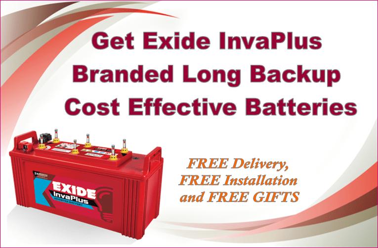 Get exide-battery for your inverter