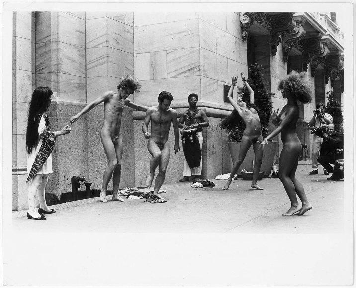 yayoi kusama anatomic explosion on wall street 1968