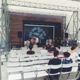 Outcomes are presented in talks and exhibitions. (Strelka, Moscow, July 2013)