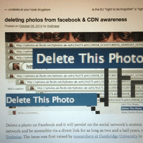 """photos """"deleted"""" from facebook took months to be removed from the URL"""
