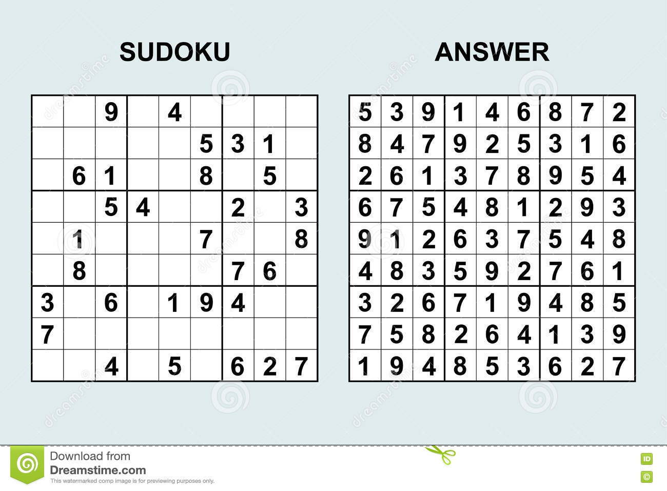 Sudoku 6 6 Printable With Answers
