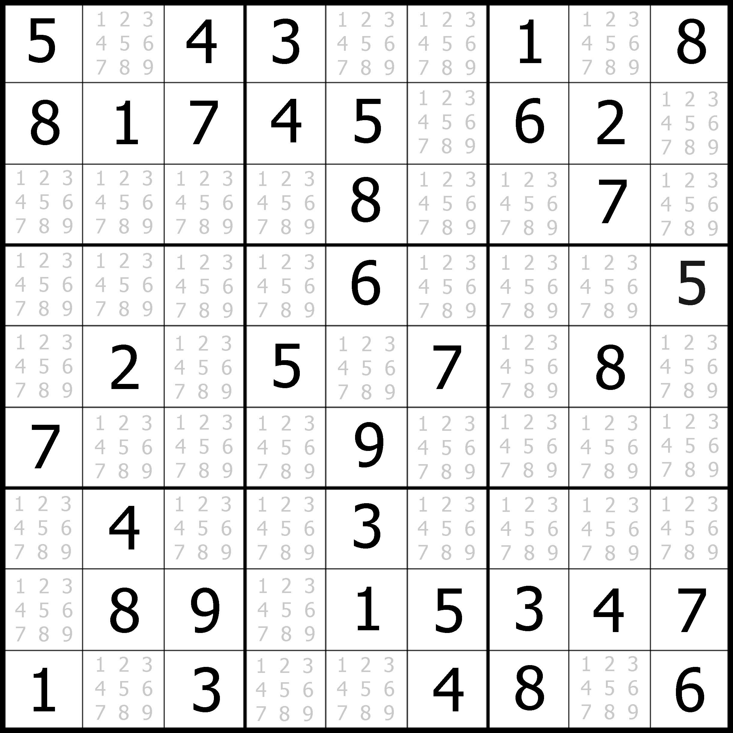 Free Easy Sudoku Puzzle 03