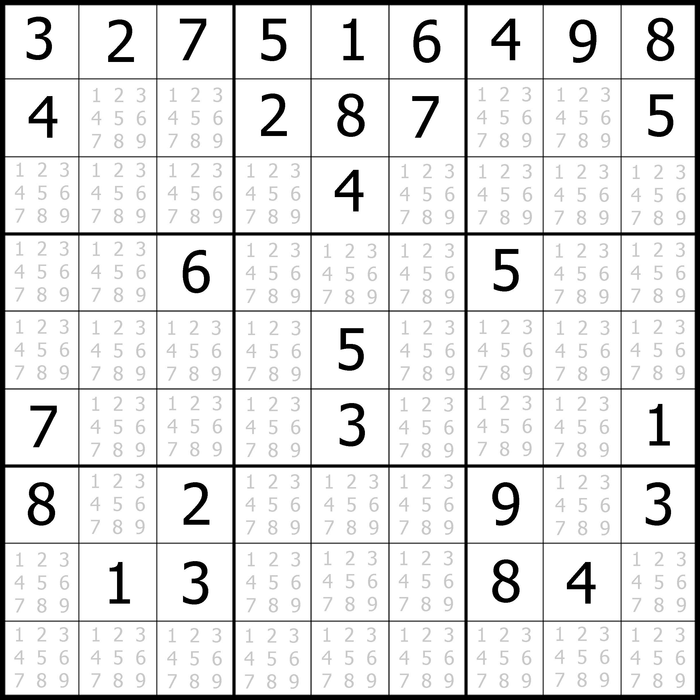 Free Medium Sudoku Puzzle 01