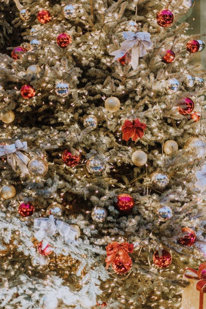 Christmas tree with Christmas decoration
