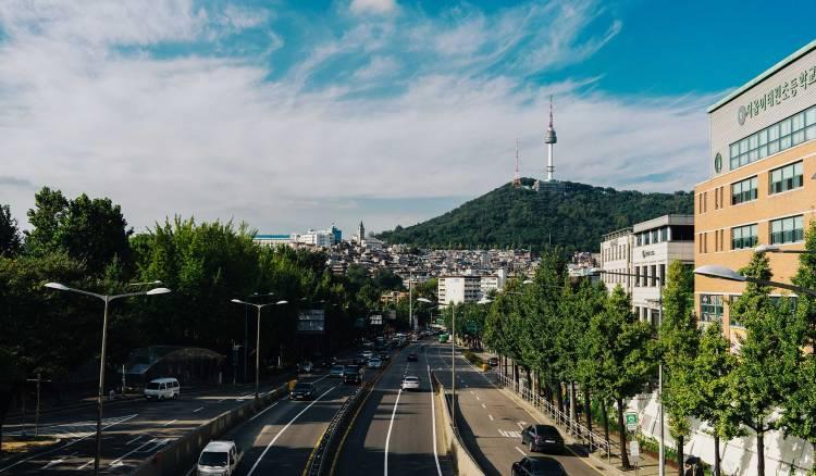 Seoul south Korea, city view ,
