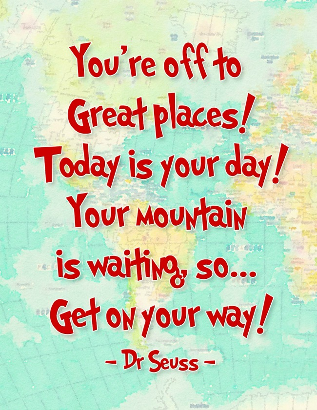 Brilliant Encouragement by Dr. Suess