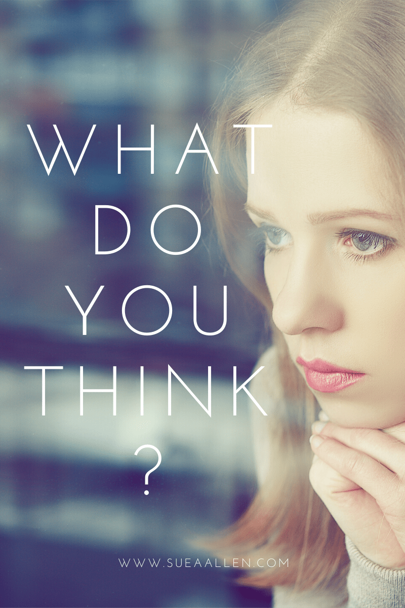 WHEN THOUGHTS RUN WILD WHAT SHOULD YOU DO?