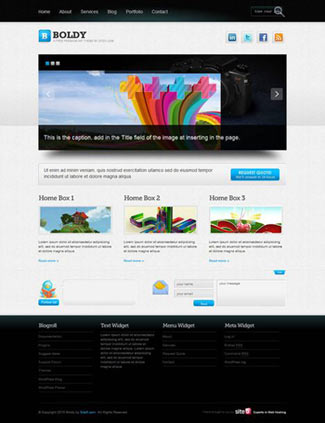 Boldy Free WordPress Photo/PortfolioTheme