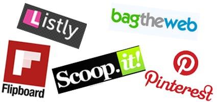 content curatoin scoop.it bagtheweb pinterest listly flipboard