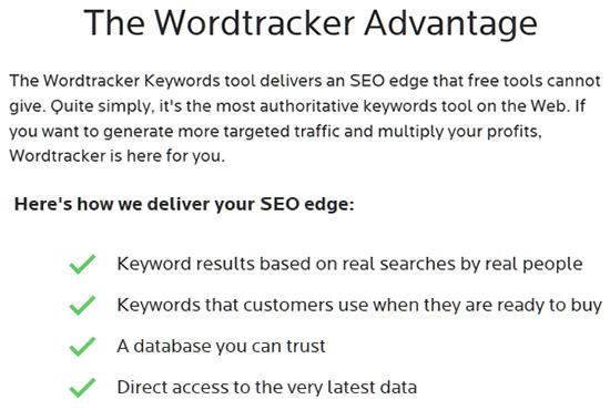 Wordtracker Advantages