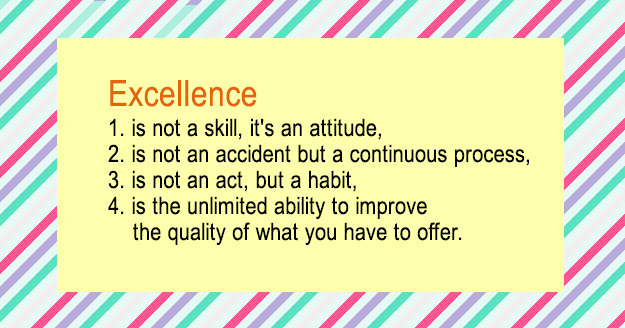 Excelence Quote for Writing Successful List Posts