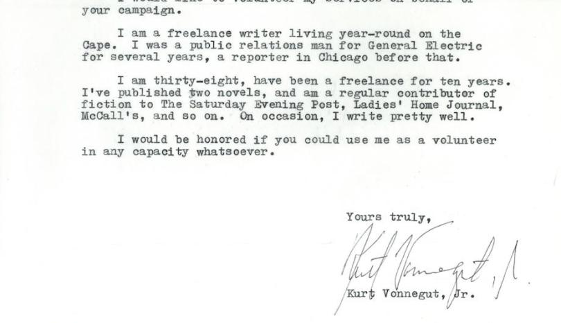 Unearthing a Vonnegut treasure during National Volunteer Week.