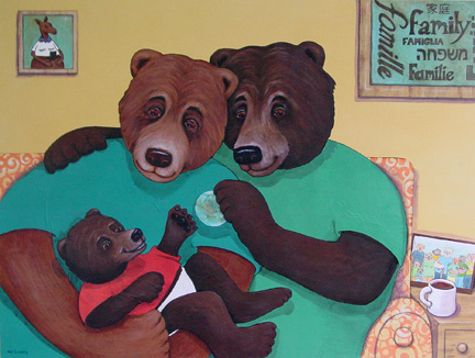 Love Offers The World (art installed in the lobby of the North West Surrogacy Center, Portland Oregon)