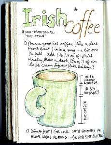 recipe for Irish coffee