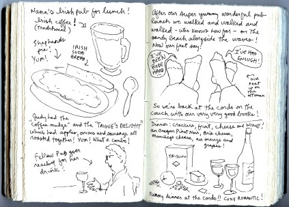 """page from """"my oregon coast sketchbook"""""""