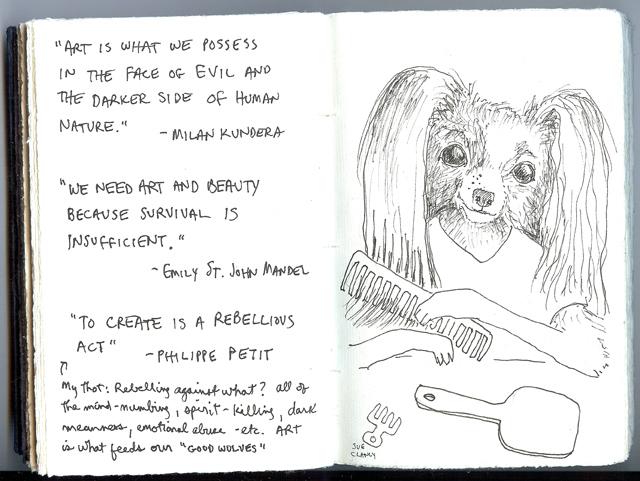 Sue Clancy's sketchbook pages