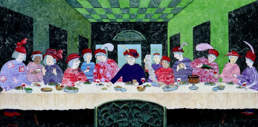 First Luncheon Of The Ladies With Red Hats by Sue Clancy