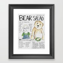 """Bear Salad"" https://society6.com/product/bear-salad_framed-print#s6-7068429p21a12v52a13v54"
