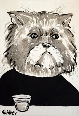 """Harold"" by Sue Clancy (ink on handmade paper)"