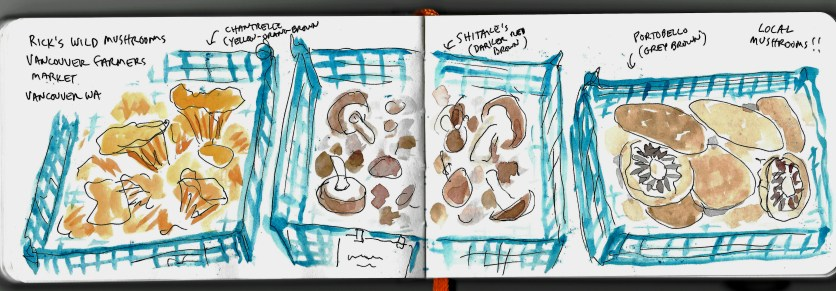 """a page from the """"Running Around Loose"""" sketchbook by Clancy"""