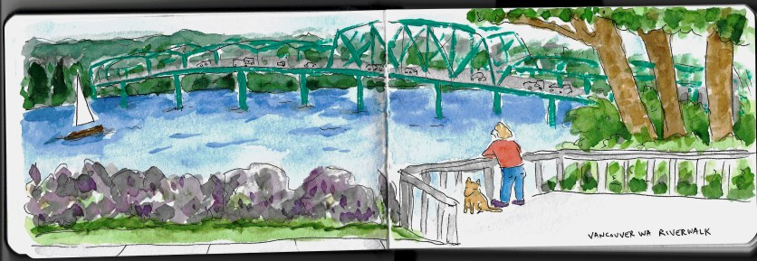 "page from ""Running Around Loose in Vancouver WA"" by Clancy"