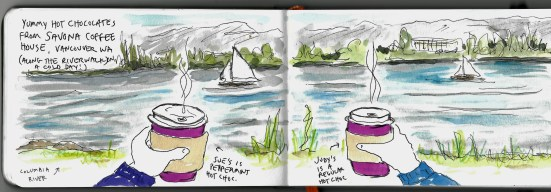 """page from """"Running Around Loose in Vancouver WA"""" by Clancy"""