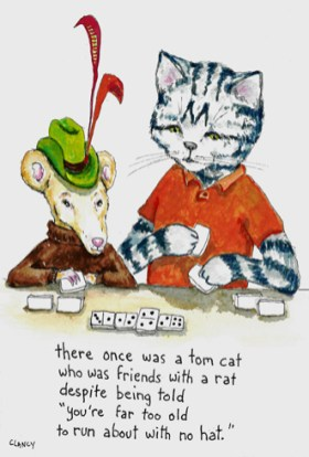"original poem and illustration titled ""There Once Was A Tom Cat..."" by Clancy"
