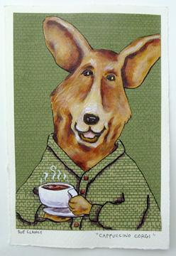 Cappuccino Corgi by Sue Clancy