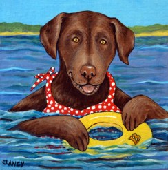 Bailey at the Lake by Sue Clancy