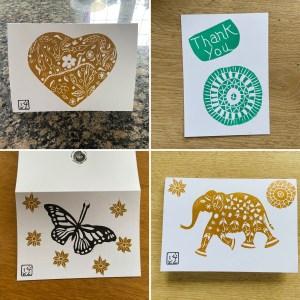 HANDPRINTED ART CARDS